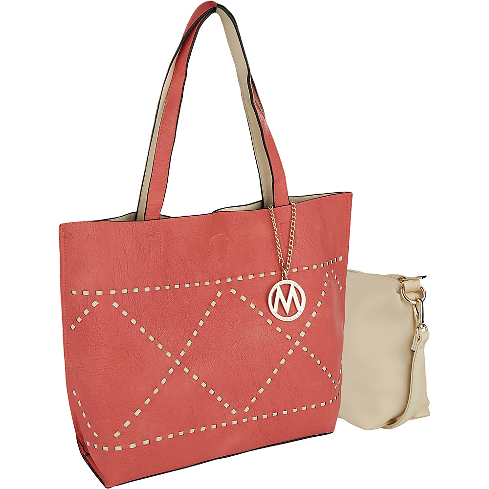 MKF Collection by Mia K. Farrow Delly Tote Shoulder Bag Coral - MKF Collection by Mia K. Farrow Manmade Handbags - Handbags, Manmade Handbags