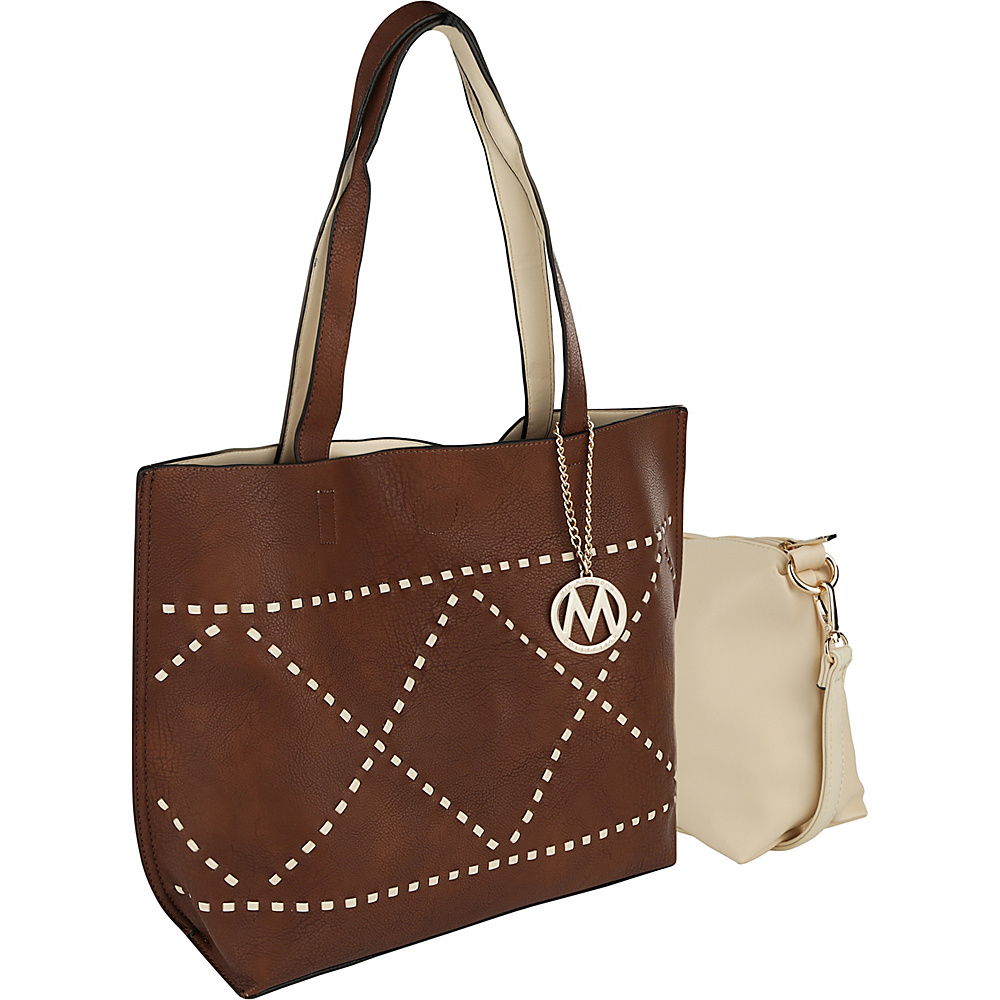 MKF Collection by Mia K. Farrow Delly Tote Shoulder Bag Brown - MKF Collection by Mia K. Farrow Manmade Handbags - Handbags, Manmade Handbags