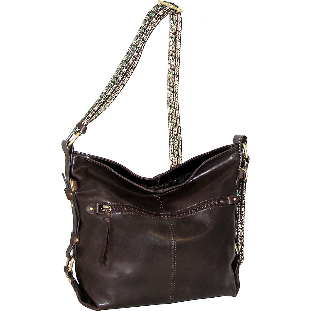 Nino Bossi Elissa Crossbody Brown - Nino Bossi Leather Handbags - Handbags, Leather Handbags