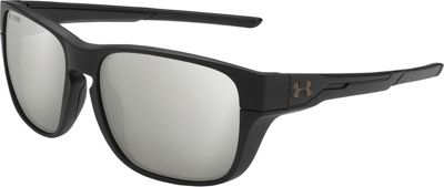 Under Armour Eyewear Pulse Sunglasses Satin Black/Black/Silver Polarized Mirror - Under Armour Eyewear Sunglasses