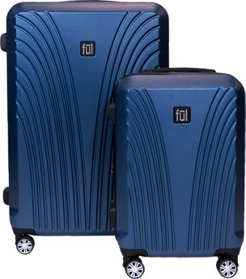 ful Curve Geo 2 Piece Expandable Hardside Spinner Luggage Set Midnight - ful Luggage Sets