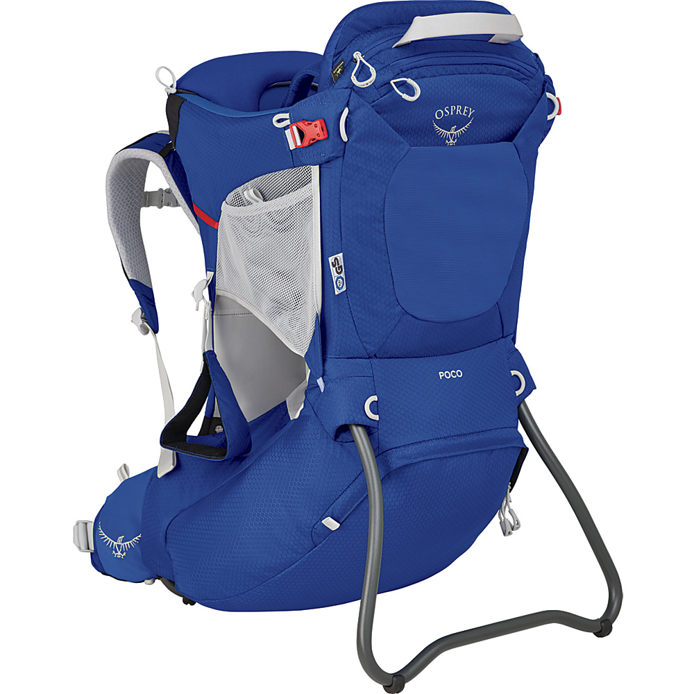 Osprey Poco Child Carrier Blue Sky O/S - Osprey Baby Carriers Poco Child Carrier Blue Sky O/S. Whether it's a big or a small adventure, the Poco® child carrier nurtures discovery. Carrying a child on your back in a supportive, innately safe and comfortable carrier allows you to have a shared point of view while giving you the freedom and mobility to adventure together. Sharing new experiences with children in this way will engage them and give them a new perspective of the world around them.