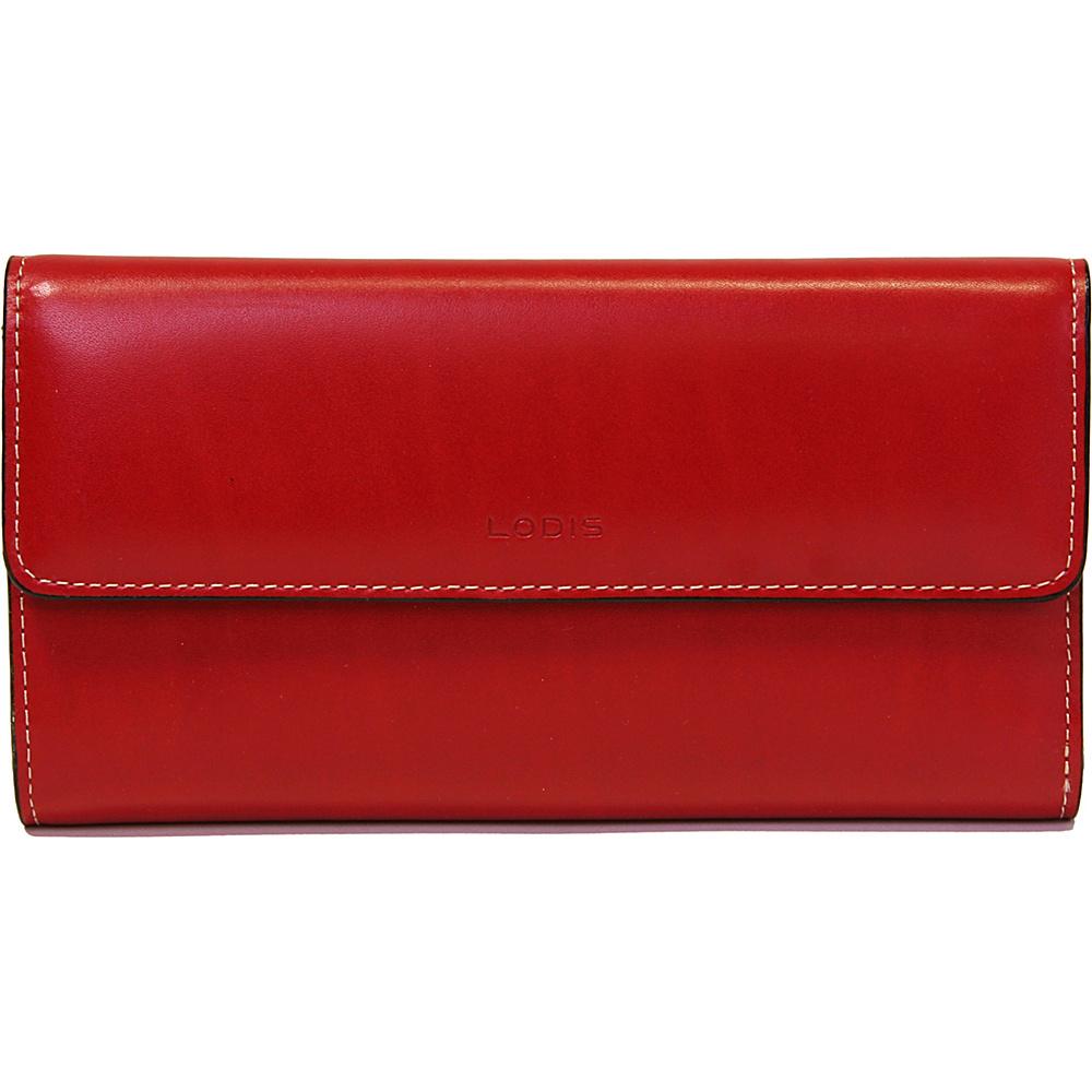 Lodis Audrey Checkbook Clutch Wallet - Red - Women's SLG, Women's Wallets