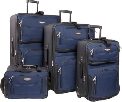 Traveler's Choice TS6950N Navy Amsterdam 4 Pieces Travel Collection