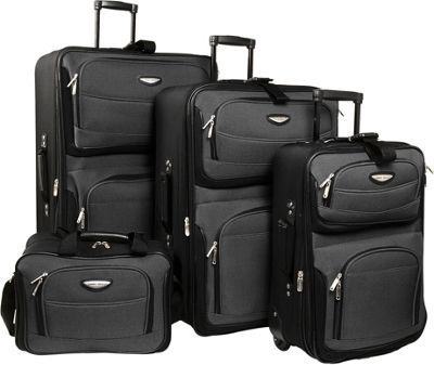 Traveler's Choice Amsterdam 4-Piece Luggage Set 4 Colors
