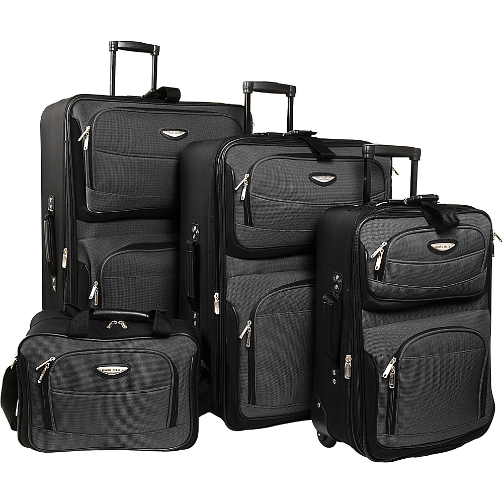 Travelers Choice Amsterdam 4-piece Luggage Set - Travelers Choice Luggage Set - Luggage, Luggage Sets