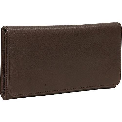 Osgoode Marley Cashmere Checkbook Clutch Raisin