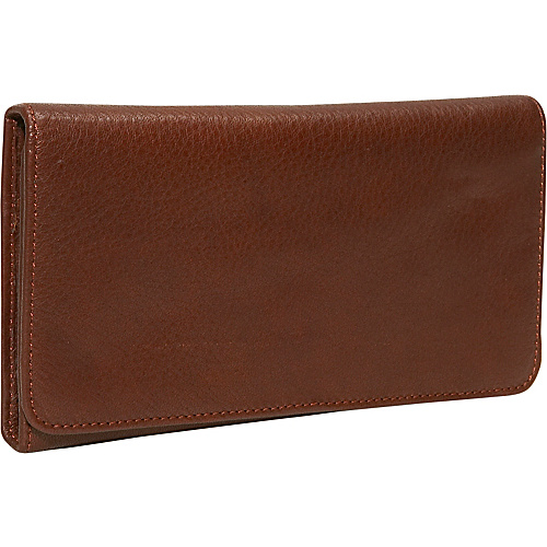Osgoode Marley Cashmere Checkbook Clutch Brandy
