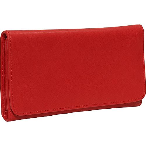 Osgoode Marley Cashmere Checkbook Clutch Red
