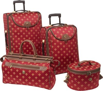 American Flyer Fleur de Lis 4-Piece Luggage Set 4 Colors | eBay