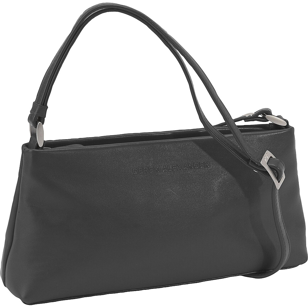 Derek Alexander Zip Top Trapezoid - Black - Handbags, Leather Handbags