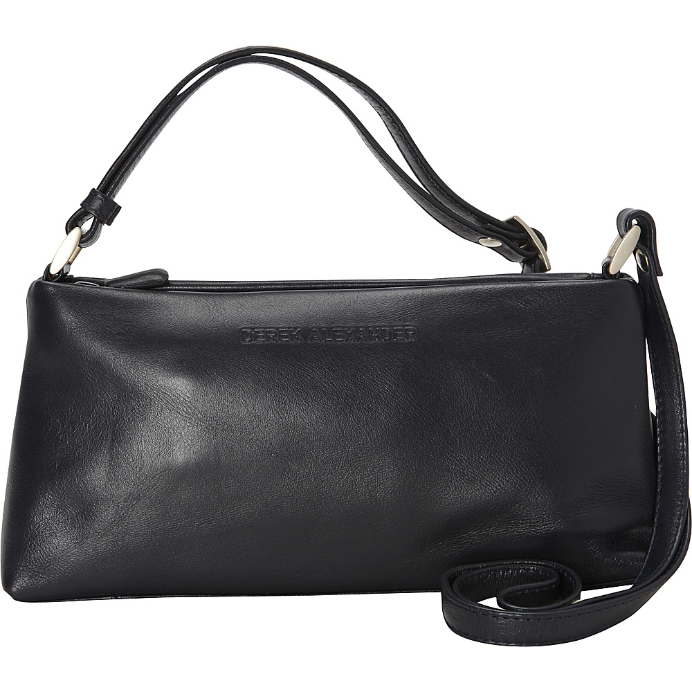 Derek Alexander Zip Top Trapezoid Navy - Derek Alexander Leather Handbags - Handbags, Leather Handbags