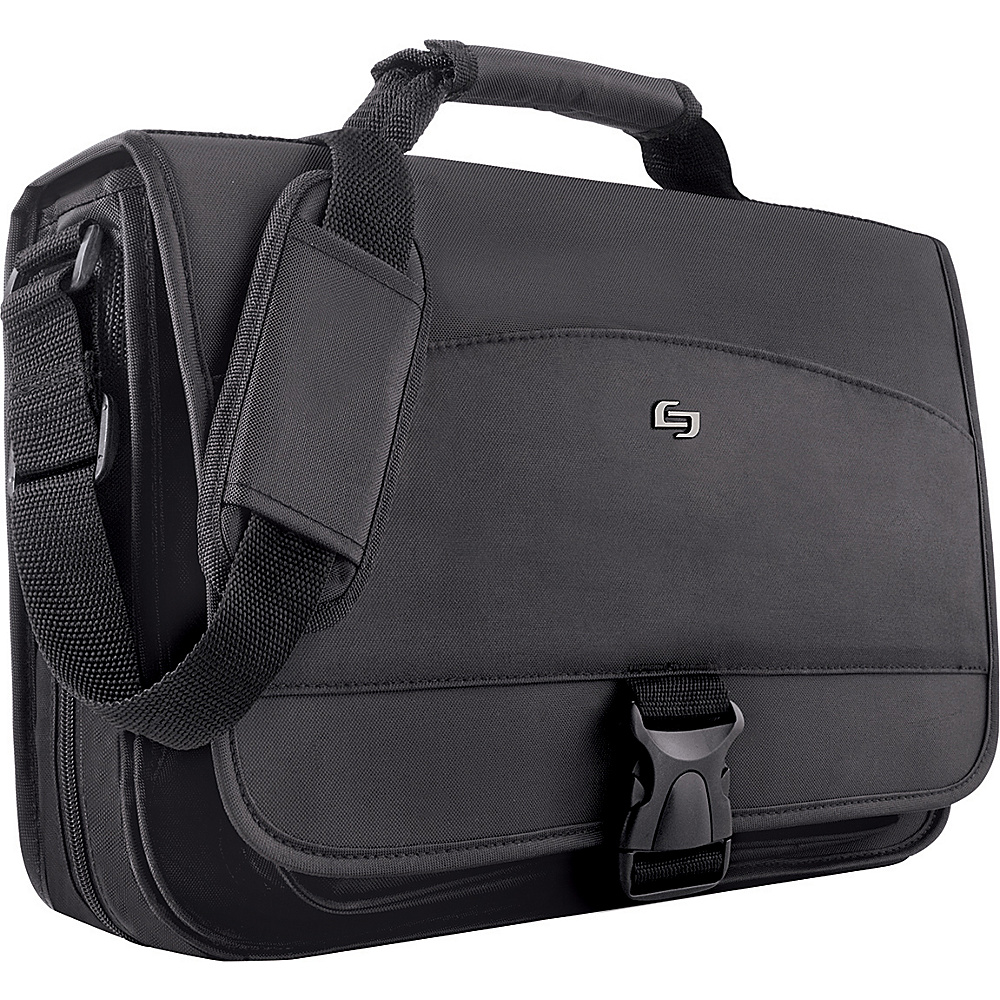 SOLO Nylon Computer Messenger Bag - Black - Work Bags & Briefcases, Messenger Bags