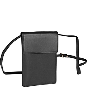 Deluxe Passport Case W/Removable Neck/Shoulder Strap Black