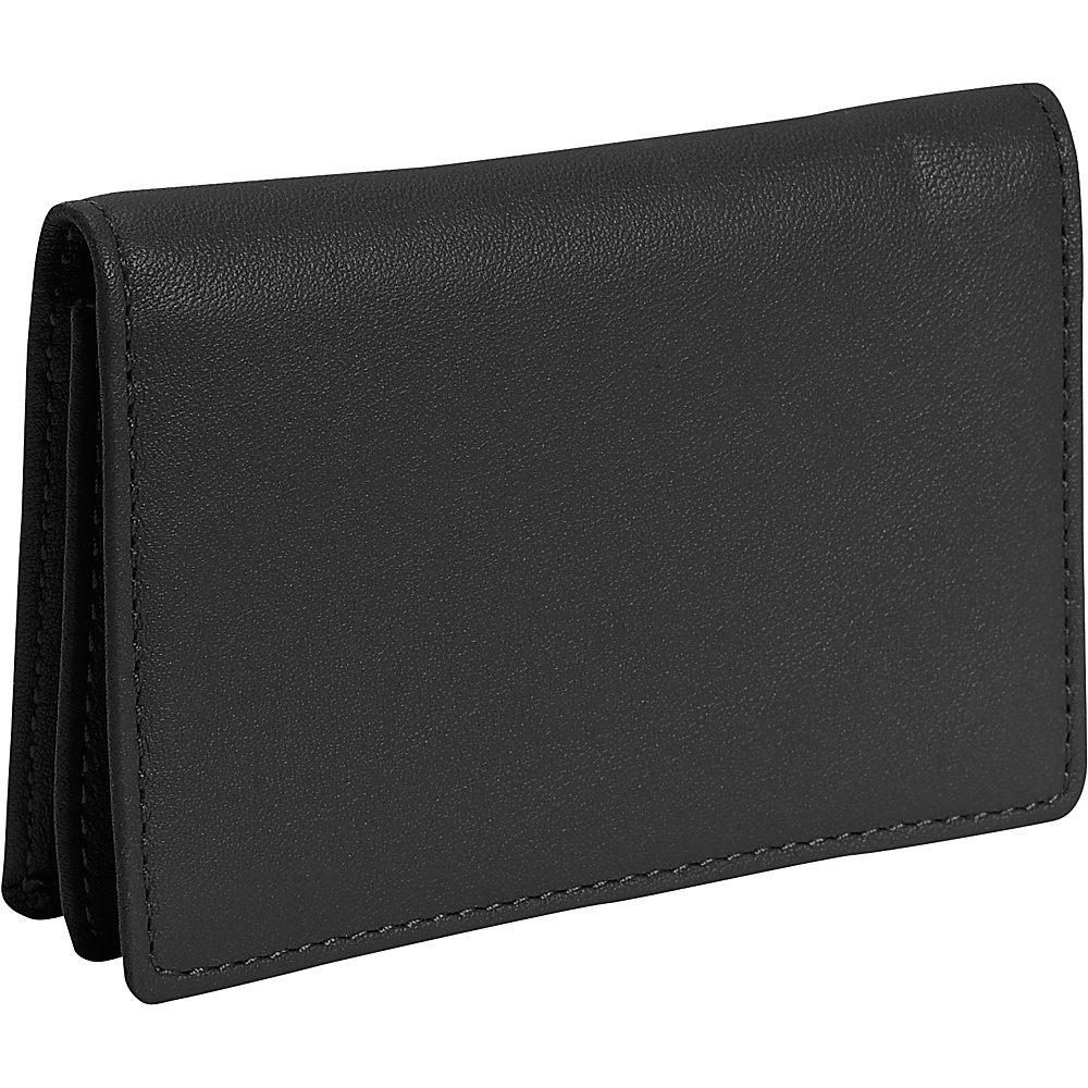 Royce Leather Business Card Holder - Black - Work Bags & Briefcases, Business Accessories