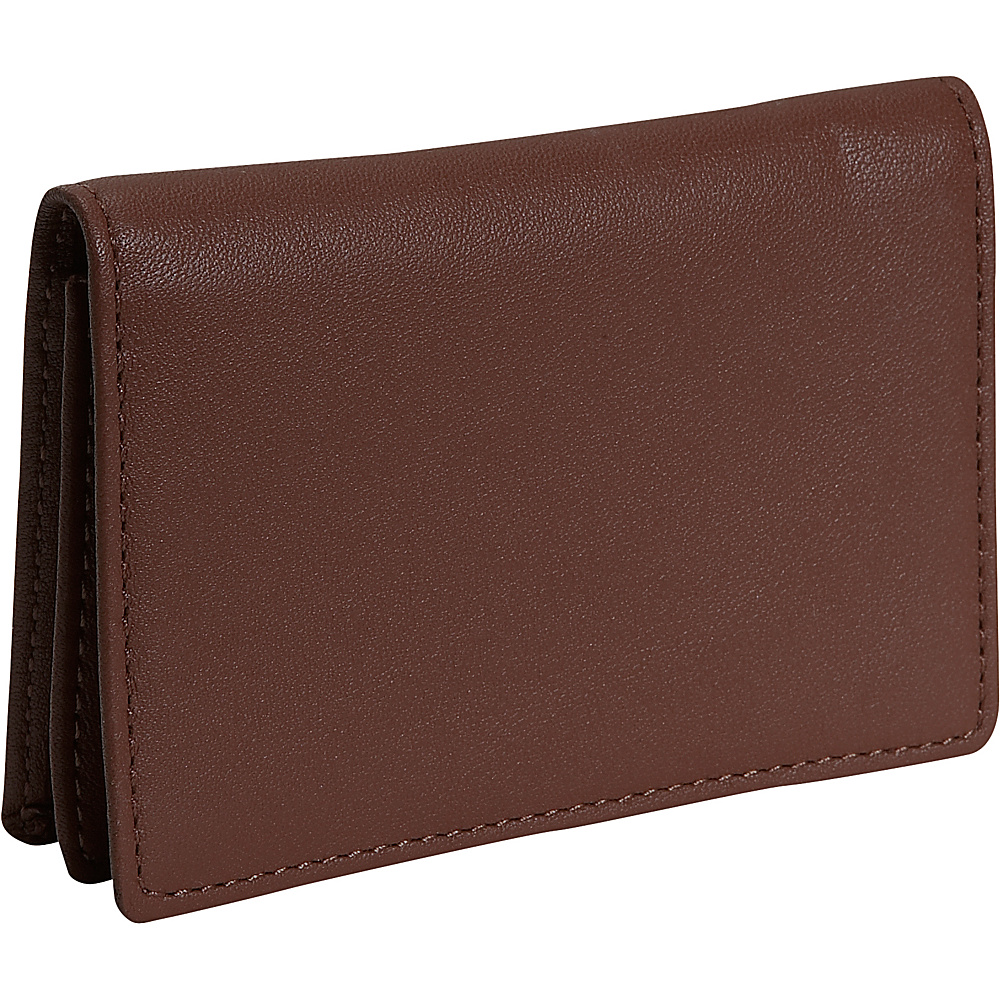 Royce Leather Business Card Holder - Coco - Work Bags & Briefcases, Business Accessories
