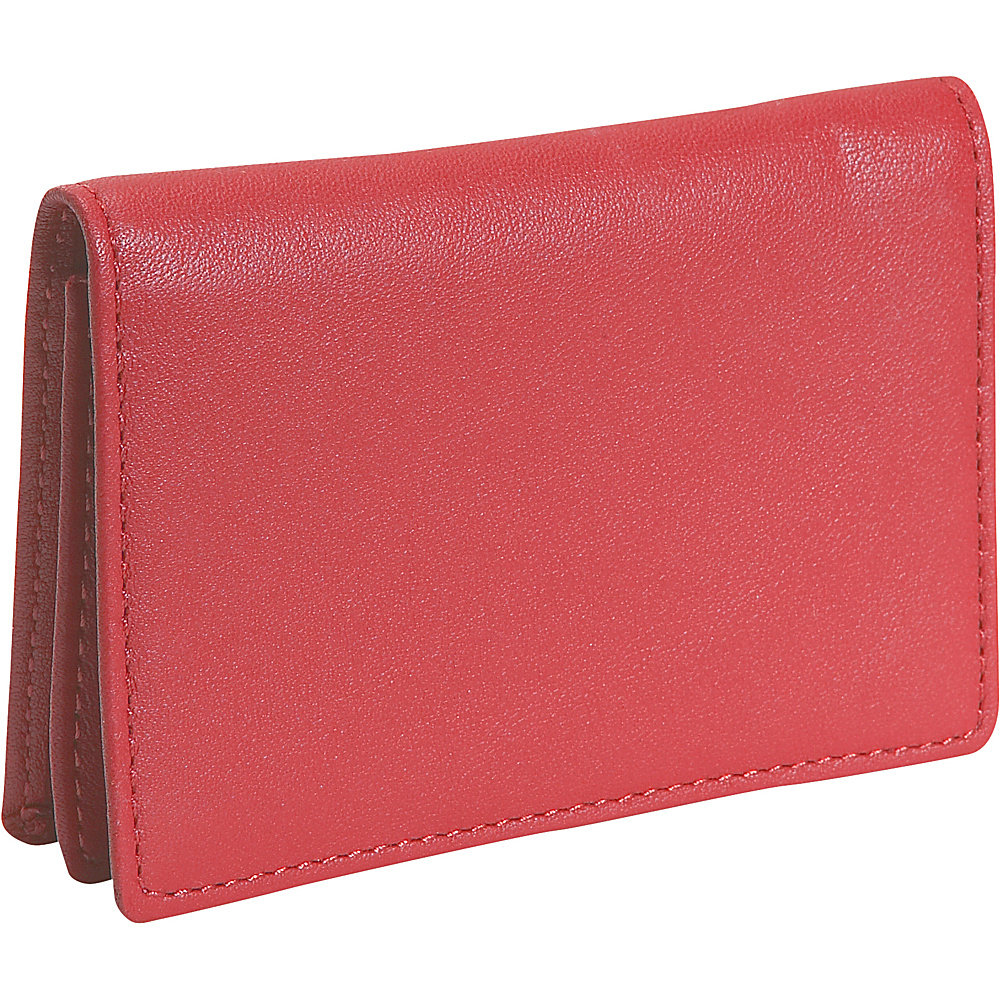 Royce Leather Business Card Holder - Red - Work Bags & Briefcases, Business Accessories