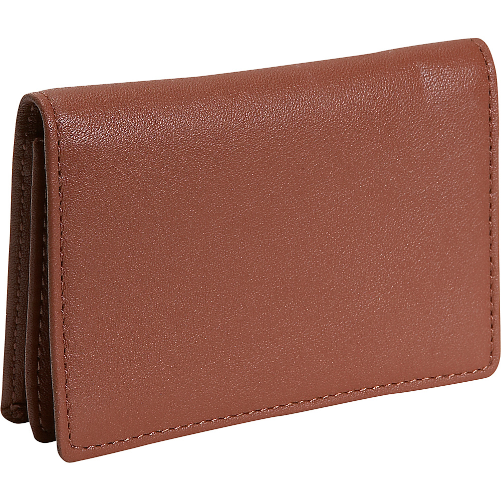Royce Leather Business Card Holder - Tan - Work Bags & Briefcases, Business Accessories