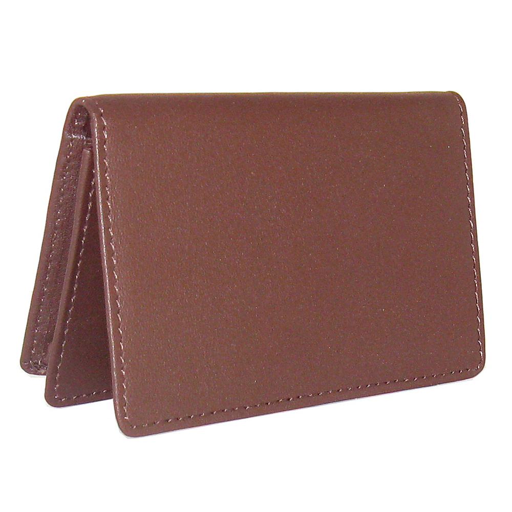 Royce Leather Business Card Holder Burgundy - Royce Leather Business Accessories - Work Bags & Briefcases, Business Accessories