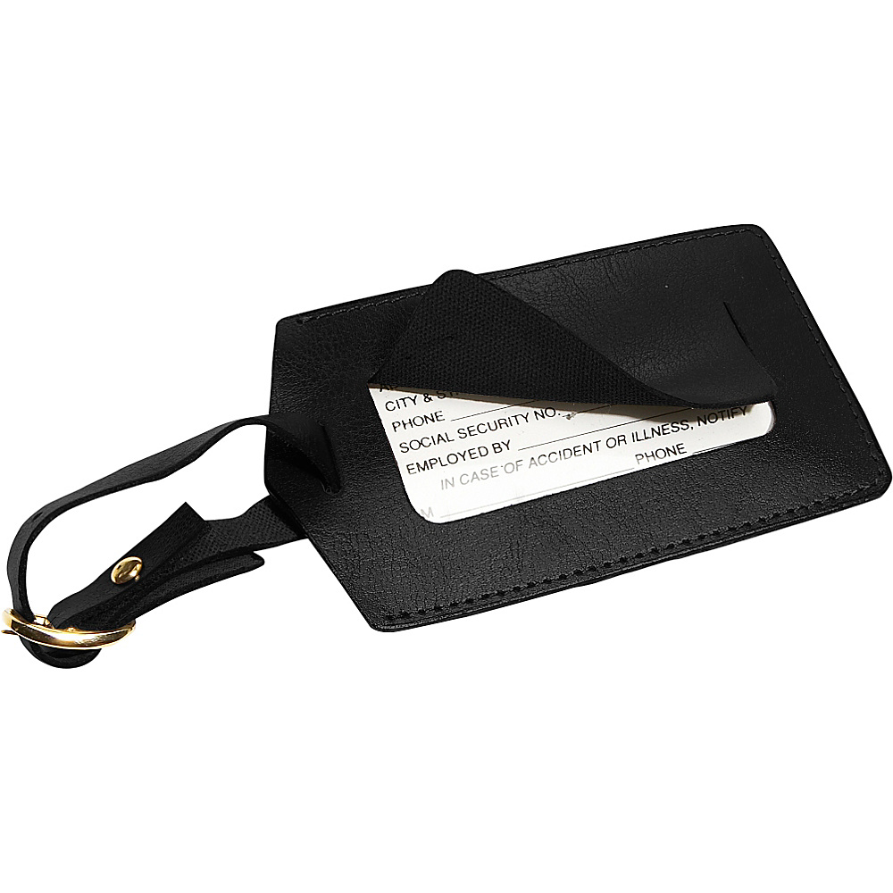 Royce Leather Popular Leather Luggage Tag Black - Royce Leather Luggage Accessories - Travel Accessories, Luggage Accessories