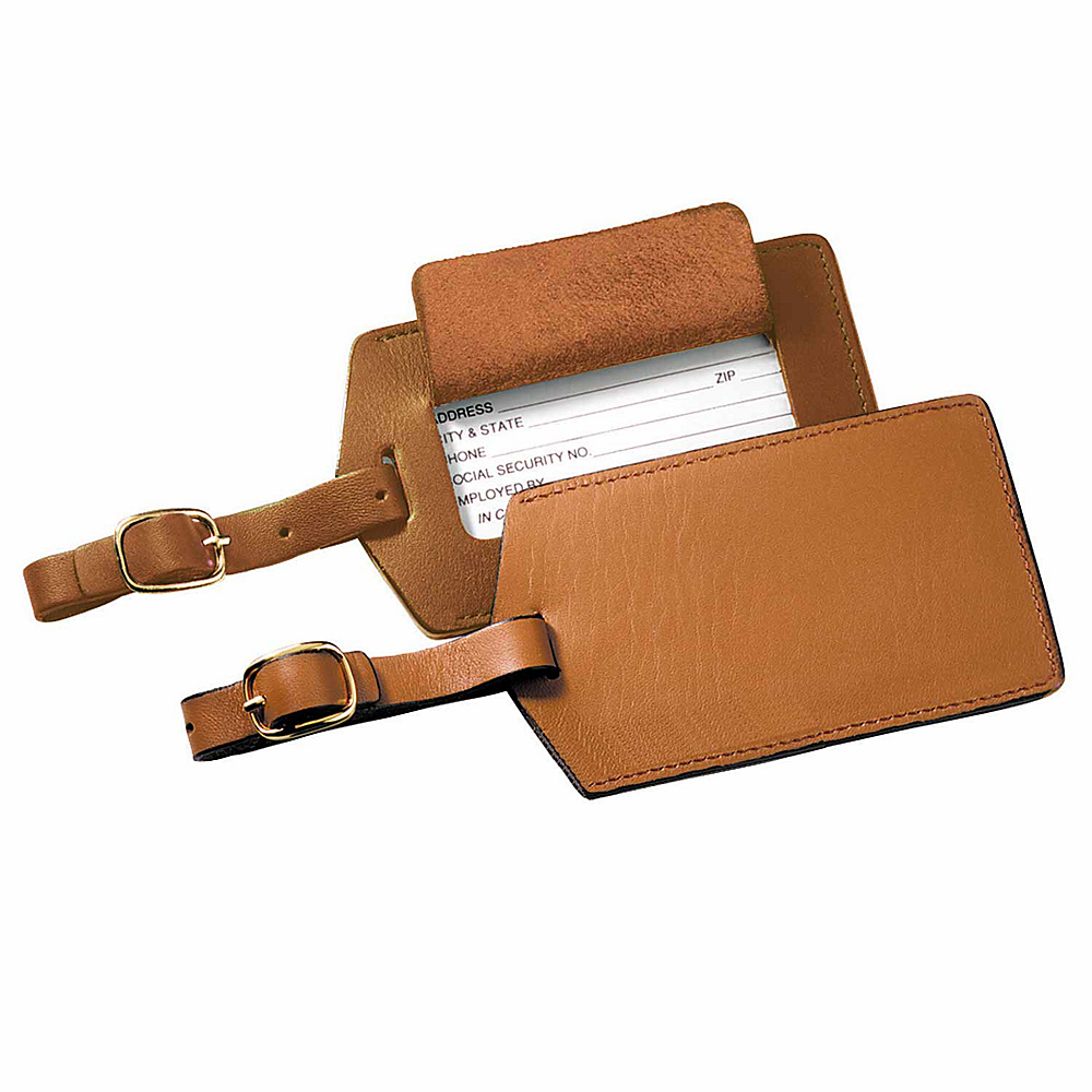 Royce Leather Popular Leather Luggage Tag Tan - Royce Leather Luggage Accessories - Travel Accessories, Luggage Accessories