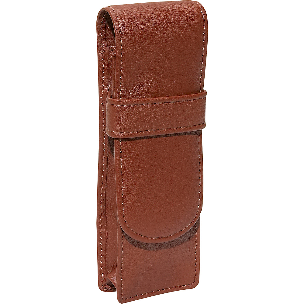 Royce Leather Double Pen Case - Tan - Work Bags & Briefcases, Business Accessories