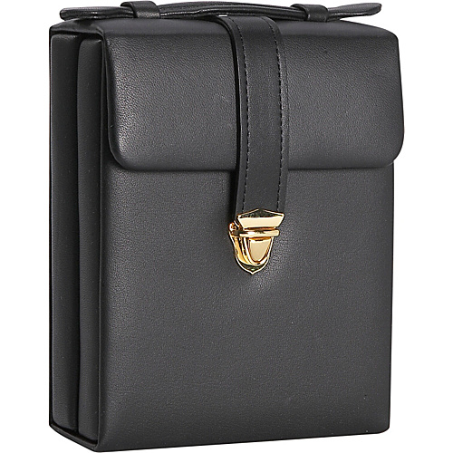 Royce Leather Ladies' Pocketbook Jewelry Case - Black
