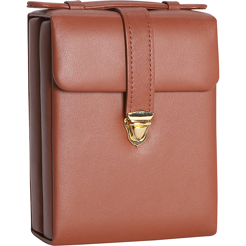 Royce Leather Ladies Pocketbook Jewelry Case - Tan - Travel Accessories, Travel Organizers