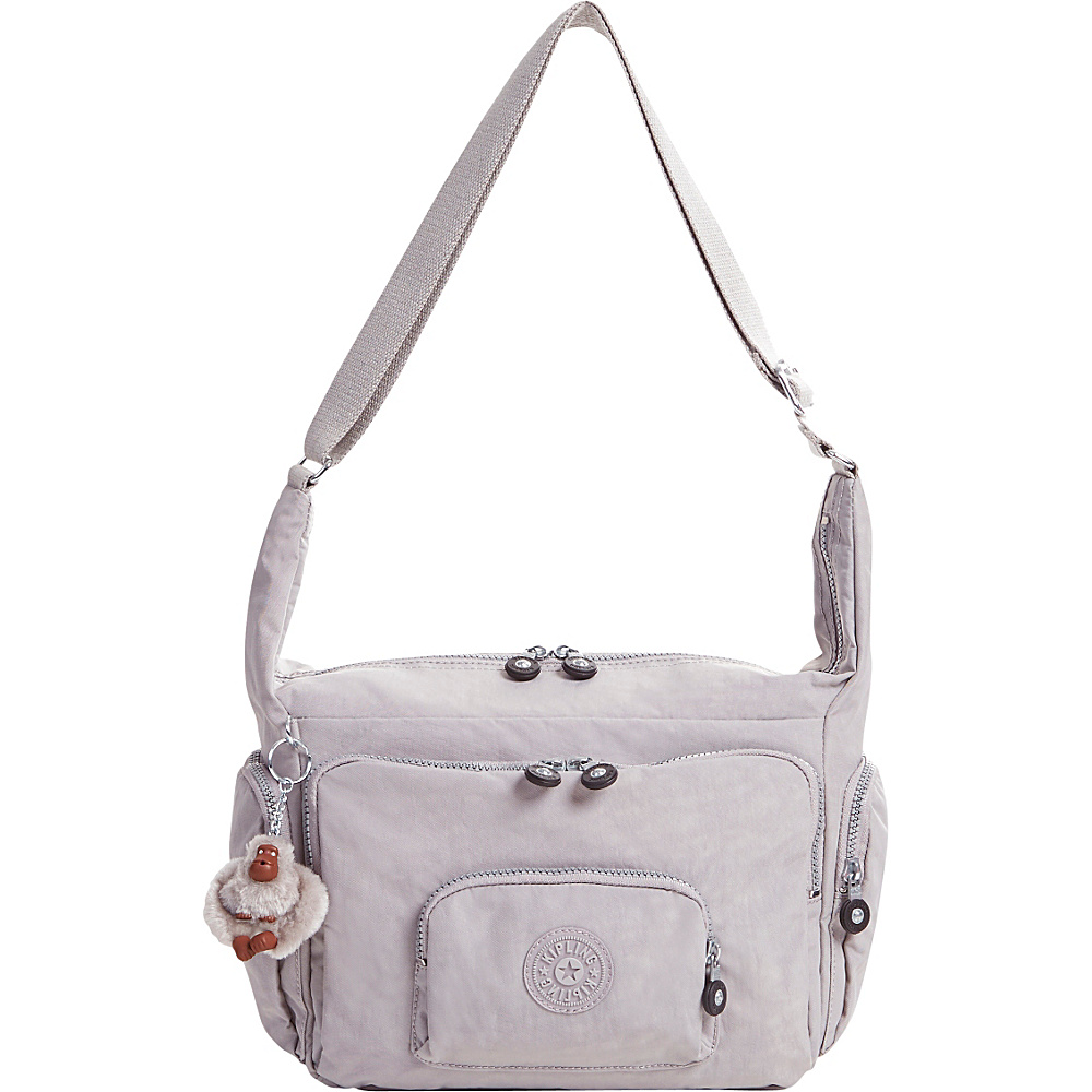 Kipling Erica Crossbody Bag Slate Grey Kipling Fabric Handbags