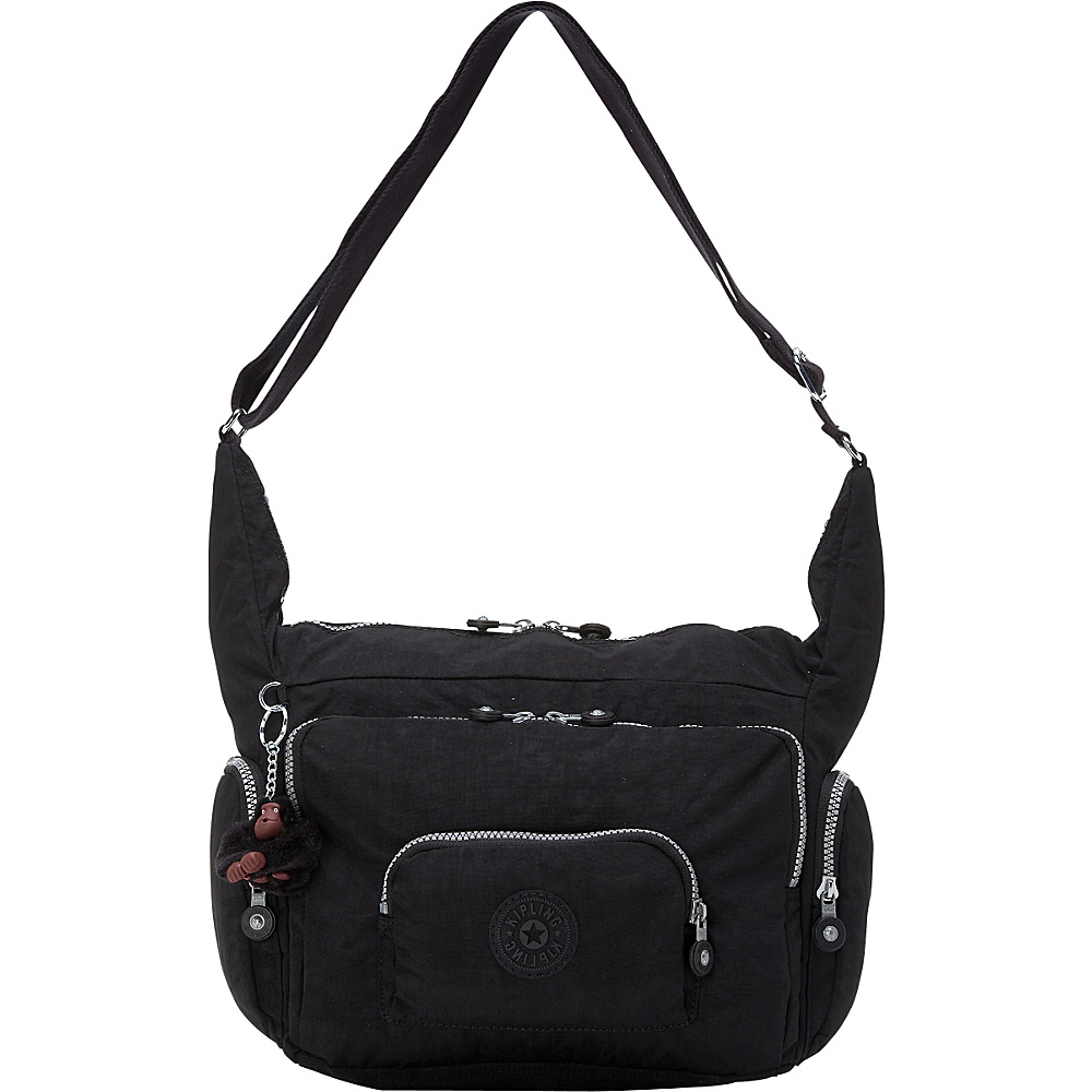 Kipling Erica Crossbody Bag Black - Kipling Fabric Handbags