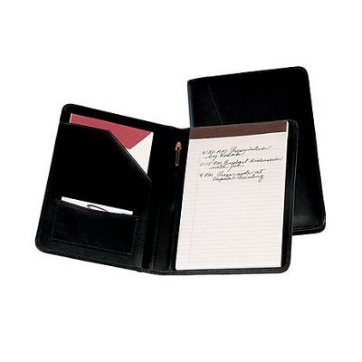 Royce Leather Royce Leather Jr. Writing Padfolio - Black