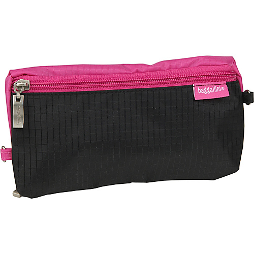 baggallini Zip Zip Bagg Ripstop Nylon - Black/Pink