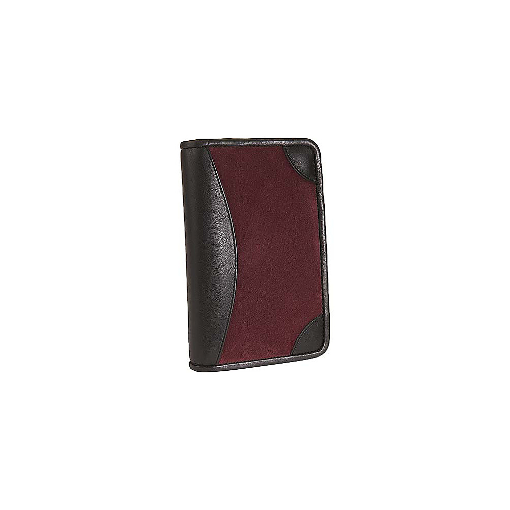 Scully Suede Zip Pocket Agenda Burgundy