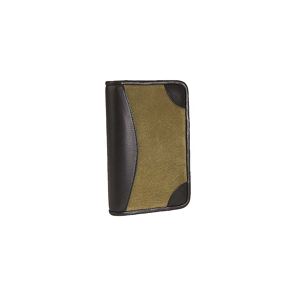 Scully Suede Zip Pocket Agenda - Green - Work Bags & Briefcases, Business Accessories