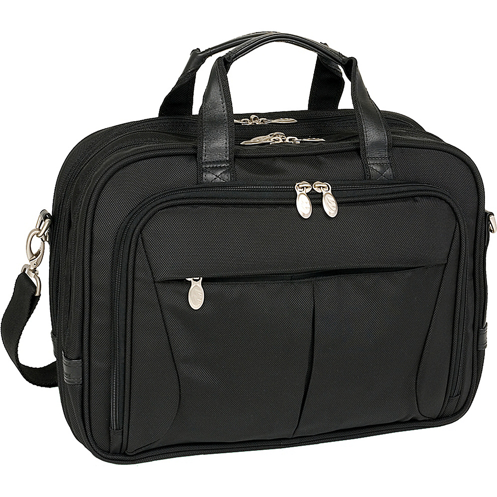 McKlein USA Pearson Nylon Expandable 15.4 Laptop Case - Work Bags & Briefcases, Non-Wheeled Business Cases