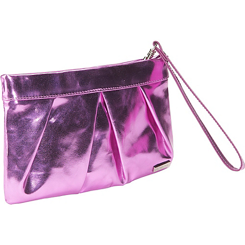 Bisadora Metallic Foil Clutch