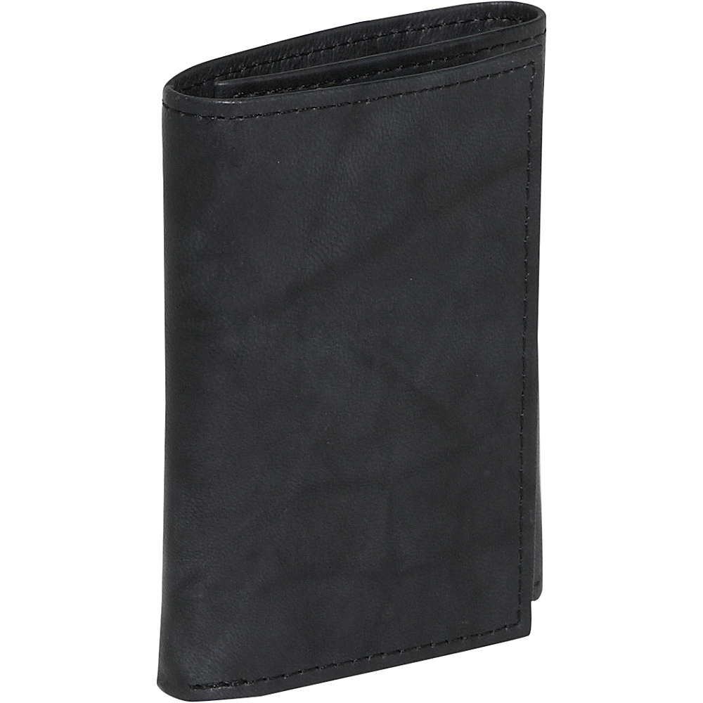Buxton Dakota Three-Fold Black - Buxton Mens Wallets - Work Bags & Briefcases, Men's Wallets