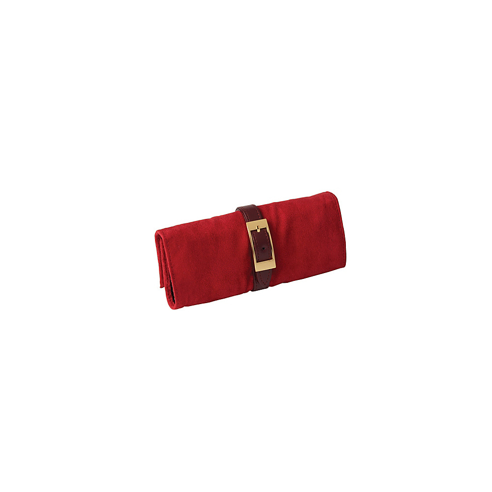Budd Leather Leather and Suede Jewel Roll Red