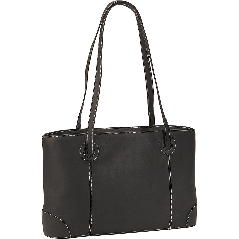 Piel Small Leather Working Tote - Black - Work Bags & Briefcases, Women's Business Bags