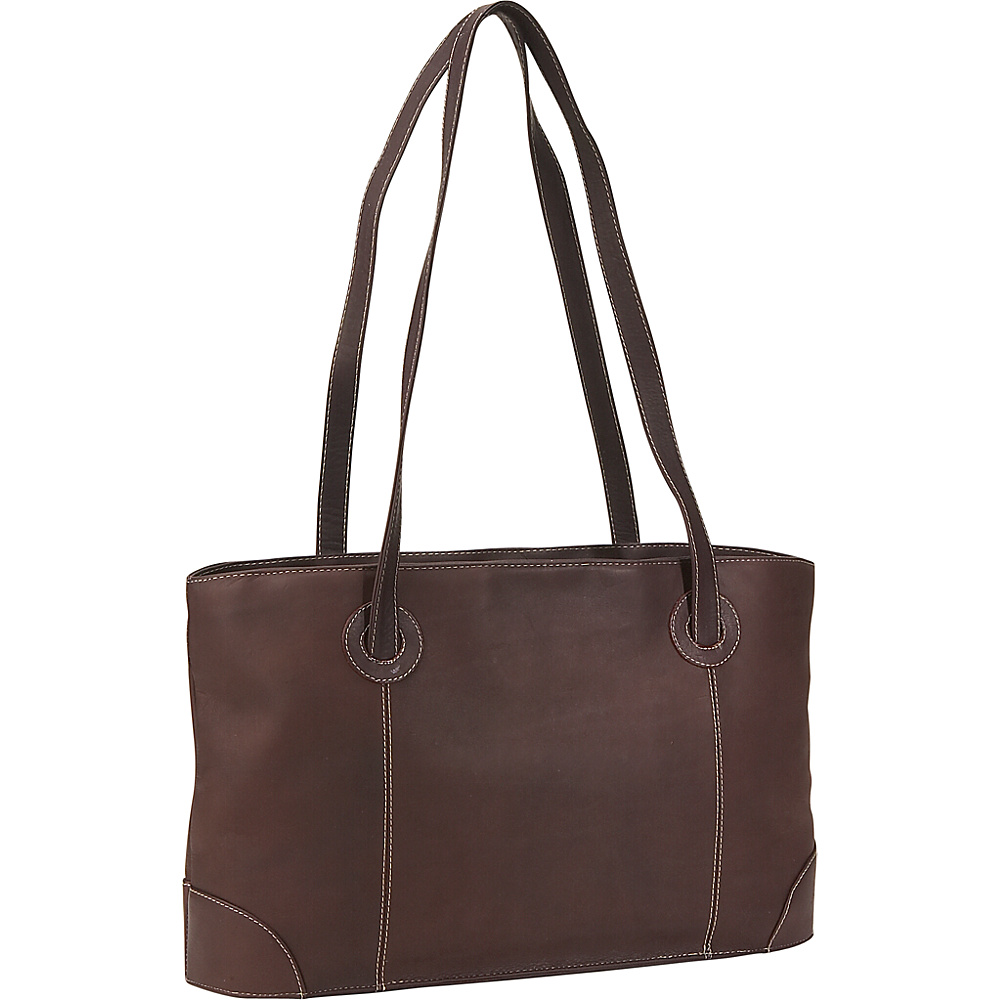 Piel Small Leather Working Tote - Chocolate - Work Bags & Briefcases, Women's Business Bags