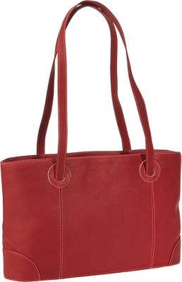 Piel Small Leather Working Tote - Red