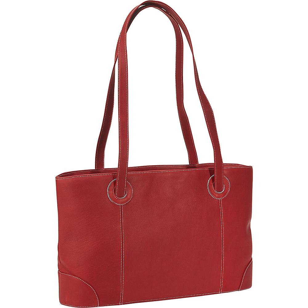 Piel Small Leather Working Tote - Red - Work Bags & Briefcases, Women's Business Bags