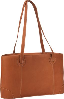 Piel Small Leather Working Tote - Saddle