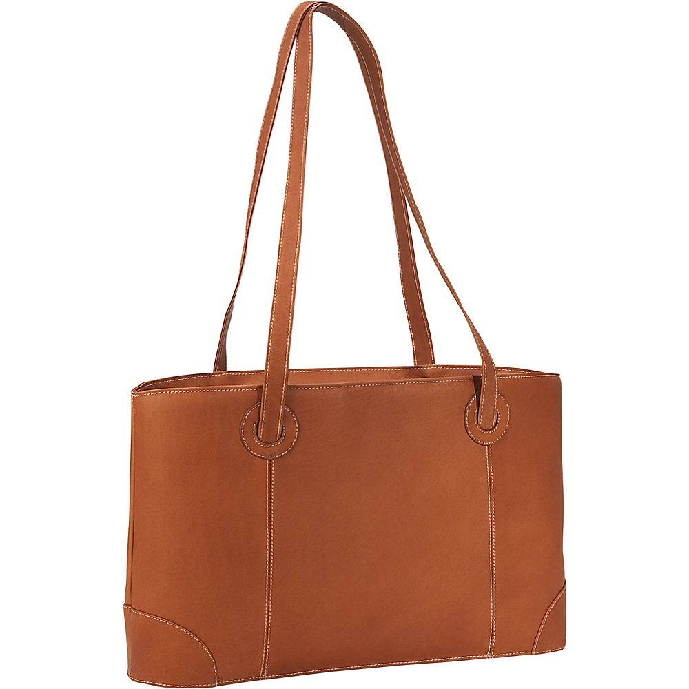 Piel Small Leather Working Tote - Saddle - Work Bags & Briefcases, Women's Business Bags