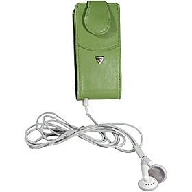 iPod Nano Flip Style Leather PDA Case (Swivel Clip) Coral Green