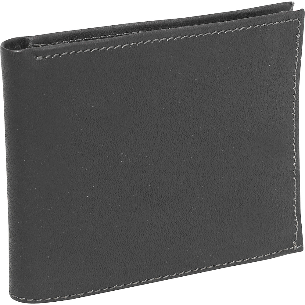 Piel Bi-Fold Wallet - Black - Work Bags & Briefcases, Men's Wallets