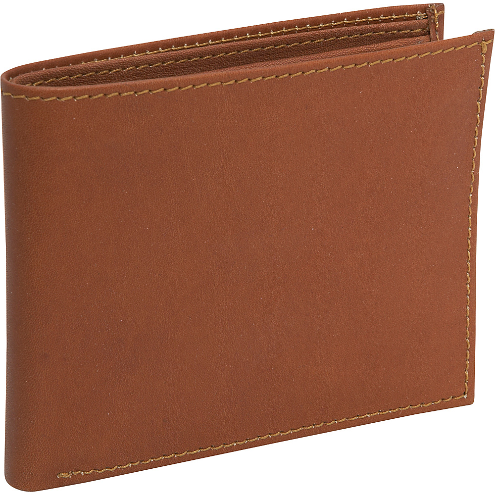 Piel Bi-Fold Wallet Saddle - Piel Mens Wallets - Work Bags & Briefcases, Men's Wallets