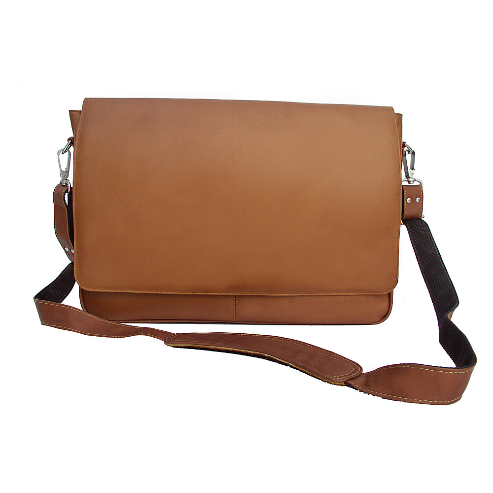 Piel Professional Laptop Messenger - Saddle - Work Bags & Briefcases, Messenger Bags