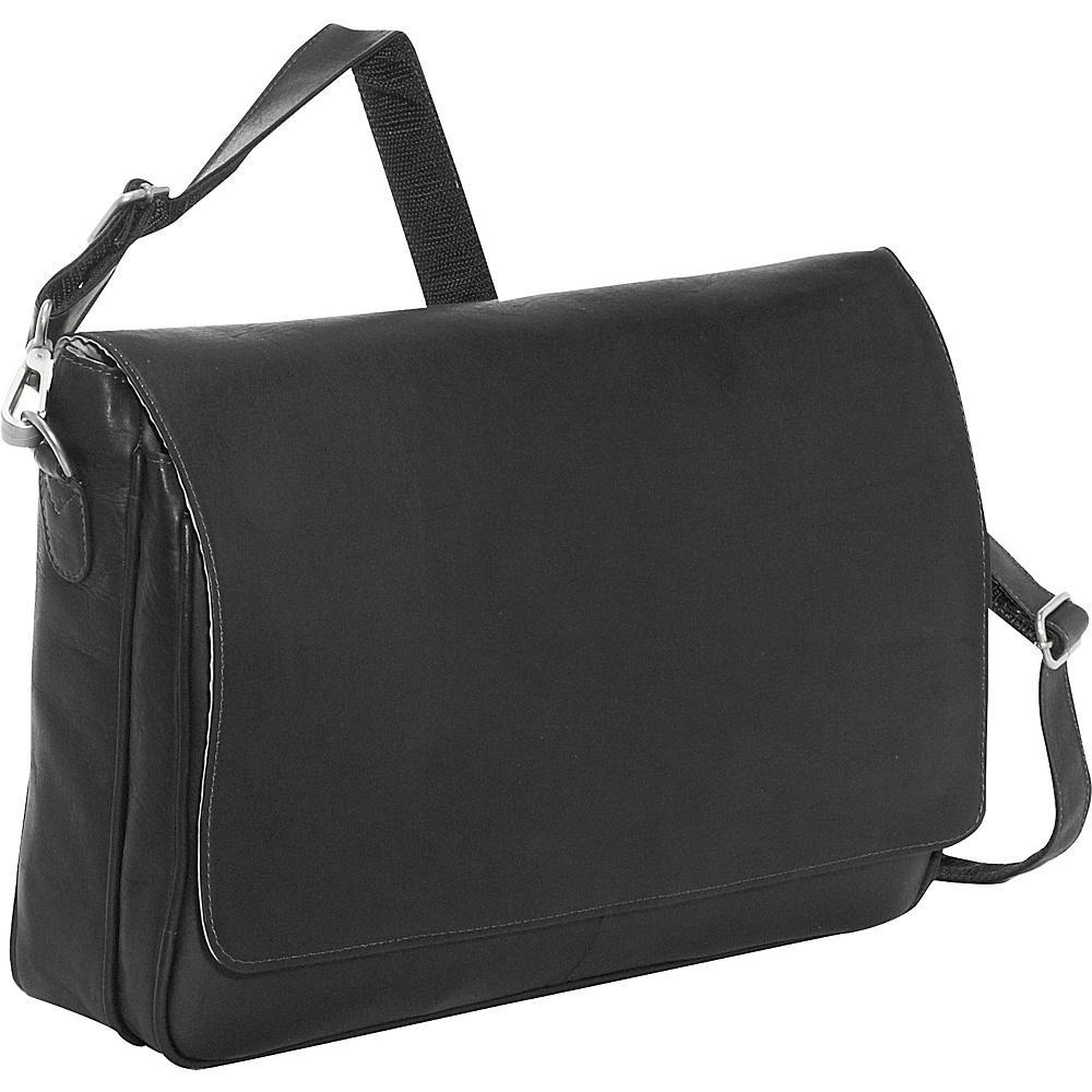 Piel Professional Laptop Messenger - Black - Work Bags & Briefcases, Messenger Bags