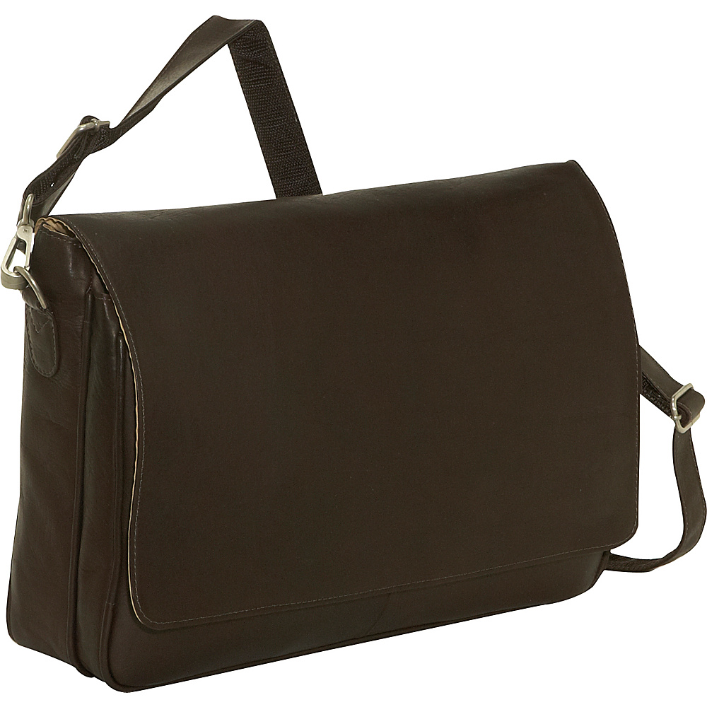 Piel Professional Laptop Messenger - Chocolate - Work Bags & Briefcases, Messenger Bags